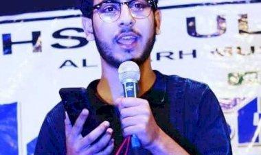 AMU student from Kashmir bags Rashtra Prerna award.