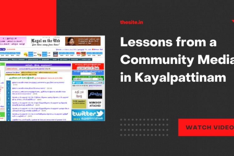 Story of A Community Media in Kayalpattinam